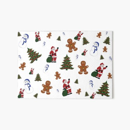 Christmas Goodies On White Background Art Board Print