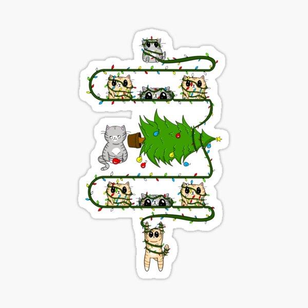 Merry Catmus Sticker