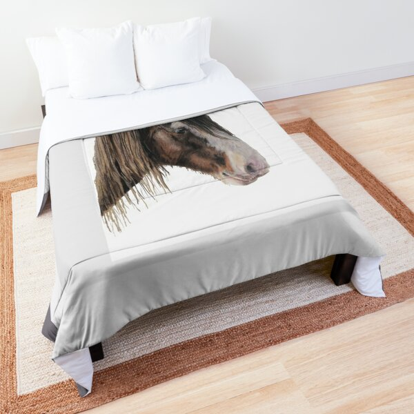Clydesdale Horse Portrait Comforter