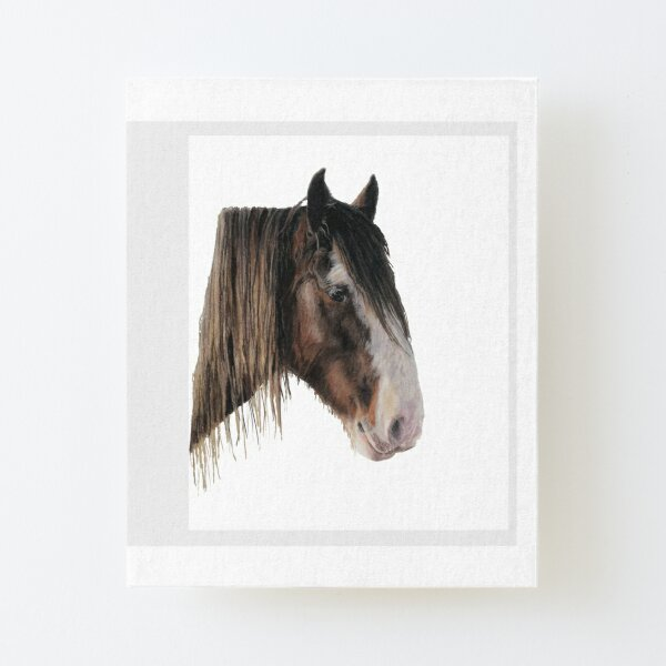 Clydesdale Horse Portrait Canvas Mounted Print