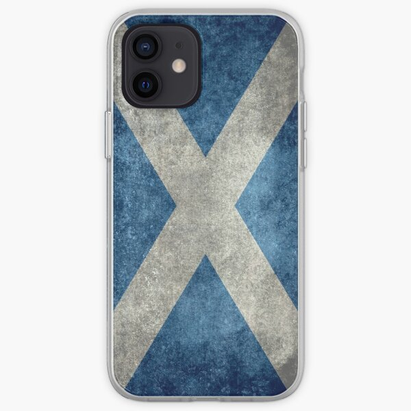 Flag of Scotland - Grungy Vintage version iPhone Soft Case