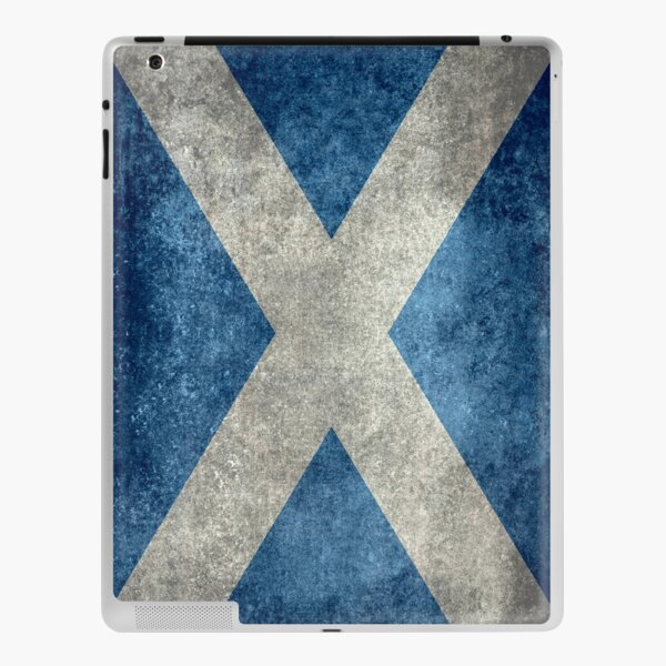 Flag of Scotland - Grungy Vintage version iPad Skin