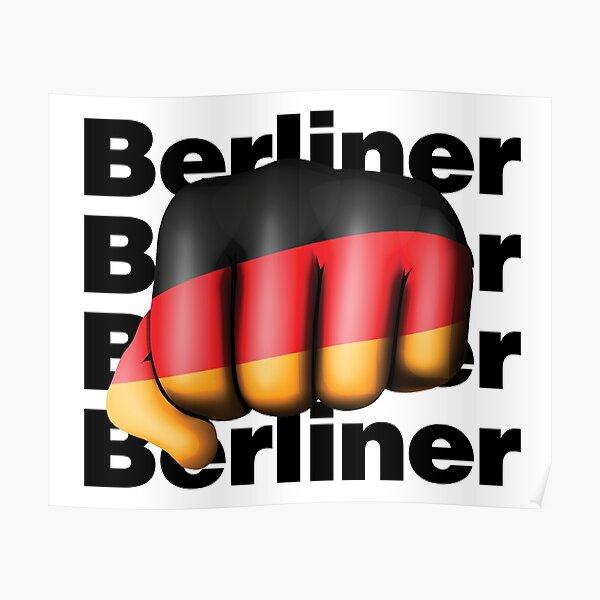 Strong Berliner Germany Fist Deutschland Flag  Poster