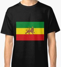 Custom Rastafarian Flag of Ethiopia Lion of Judah Classic T-Shirt