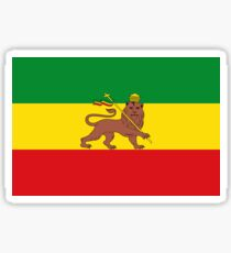 Custom Rastafarian Flag of Ethiopia Lion of Judah Sticker