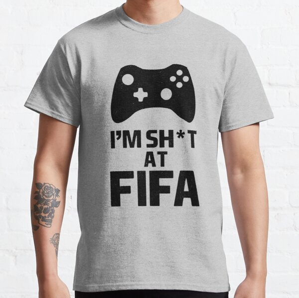 """""""FIFA 21 Vintage I'm Sh*t At FIFA Typical Gamer White"""" T ..."""