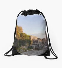 Pompeii Sunset Landscape  Drawstring Bag