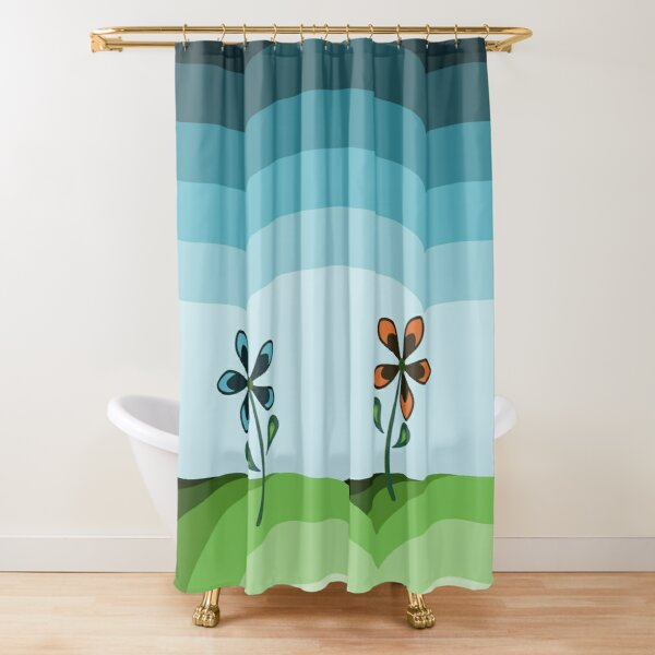 Two Daisies on a Hill Shower Curtain