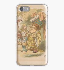 John Tenniel,  Alice with Flamingo Mallet iPhone Case/Skin