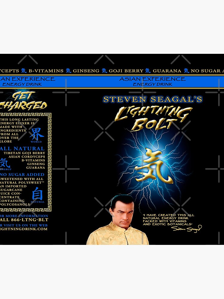 Steven Seagal Energy Drink by StudioMarimo