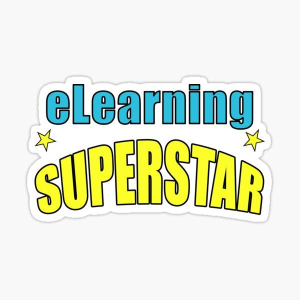 eLearning Superstar Sticker