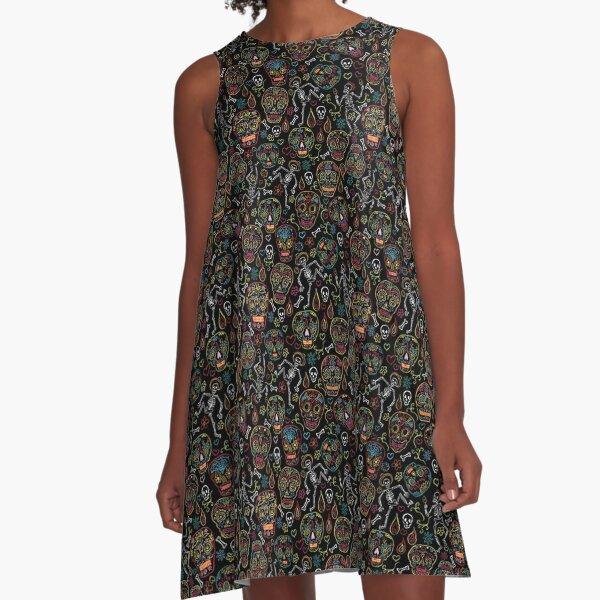 Calaveras Sugar Skulls A-Line Dress