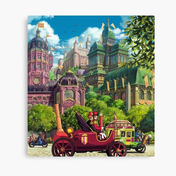 Howls Royal Town Canvas Print