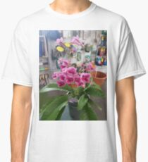 pink flower joy Classic T-Shirt