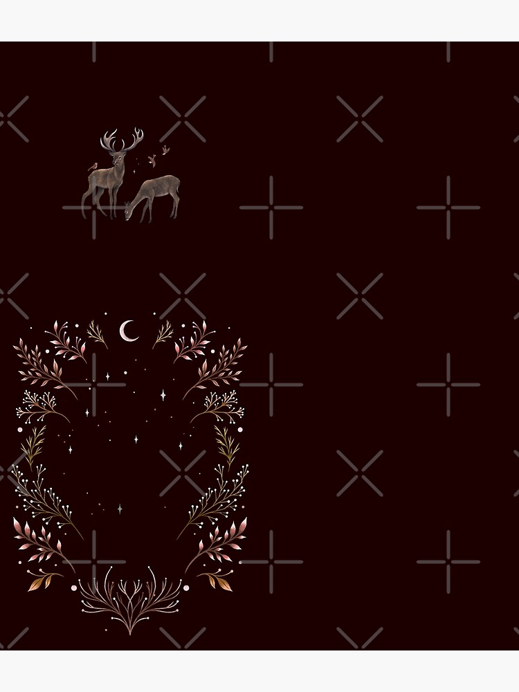 Deers in the Moonlight - Chocolate Brown by episodicDrawing