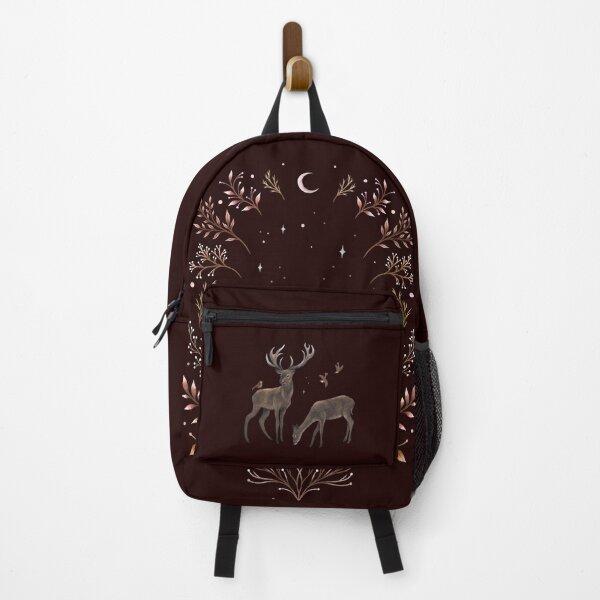 Deers in the Moonlight - Chocolate Brown Backpack
