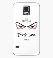 The F you face Case/Skin for Samsung Galaxy