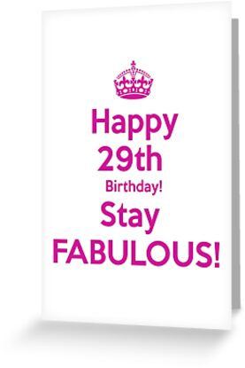 Happy 29th Birthday Saty Fabulous By Thatstickerguy