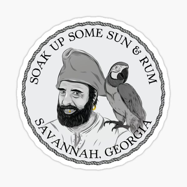 Pirate and Parrot - Soak Up Some Sun & Rum Sticker