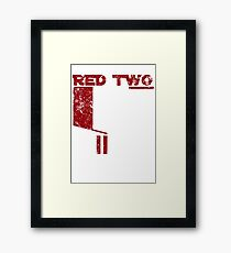 Red Two Framed Print