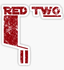 Red Two Sticker