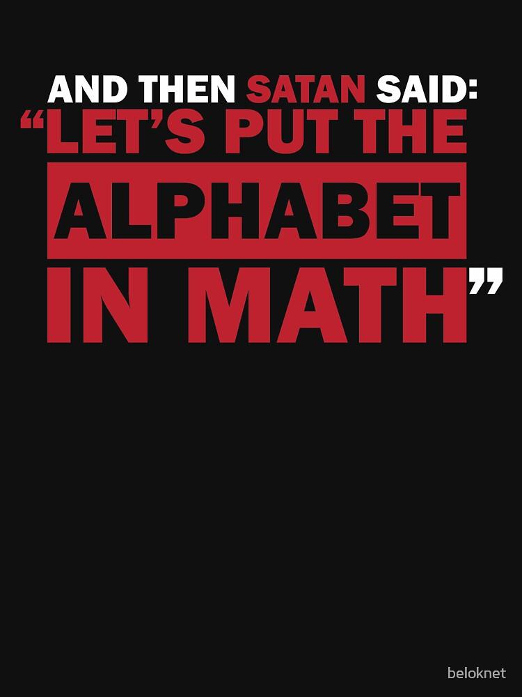 Alphabet in Math by beloknet
