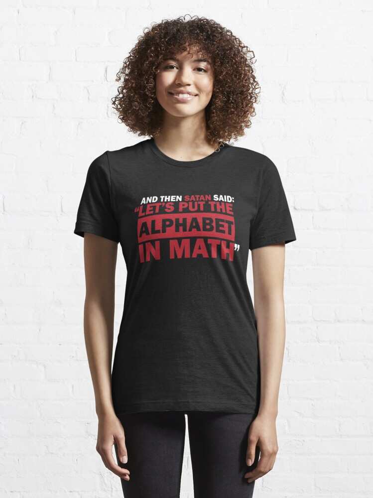 Alternate view of Alphabet in Math Essential T-Shirt