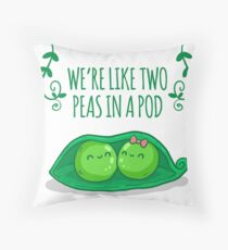 Two peas in a pod Throw Pillow
