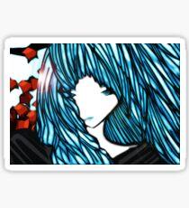 Blue Hair Fall Day Sticker