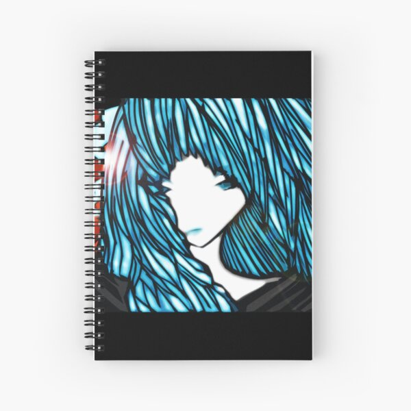 Blue Hair Fall Day Spiral Notebook