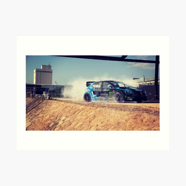 Cartelkhana Andreas Bakkerud World Rallycross Art Print