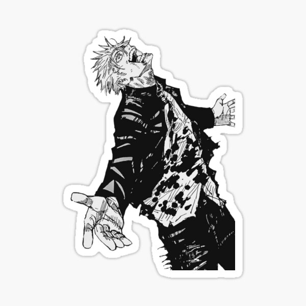 jujustu kaisen - gojo satoru anime black and white black friday sales Sticker