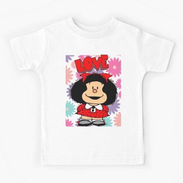 Copy of Love,amor y mafalda rodeada de corazones Camiseta para niños