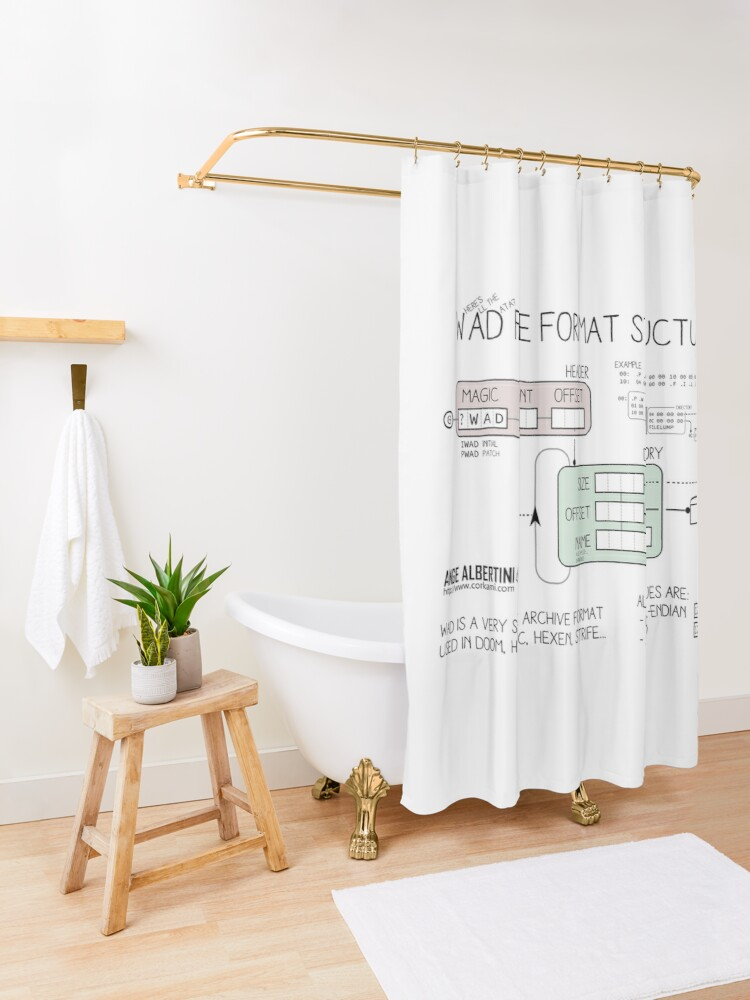 Alternate view of WAD format structure Shower Curtain
