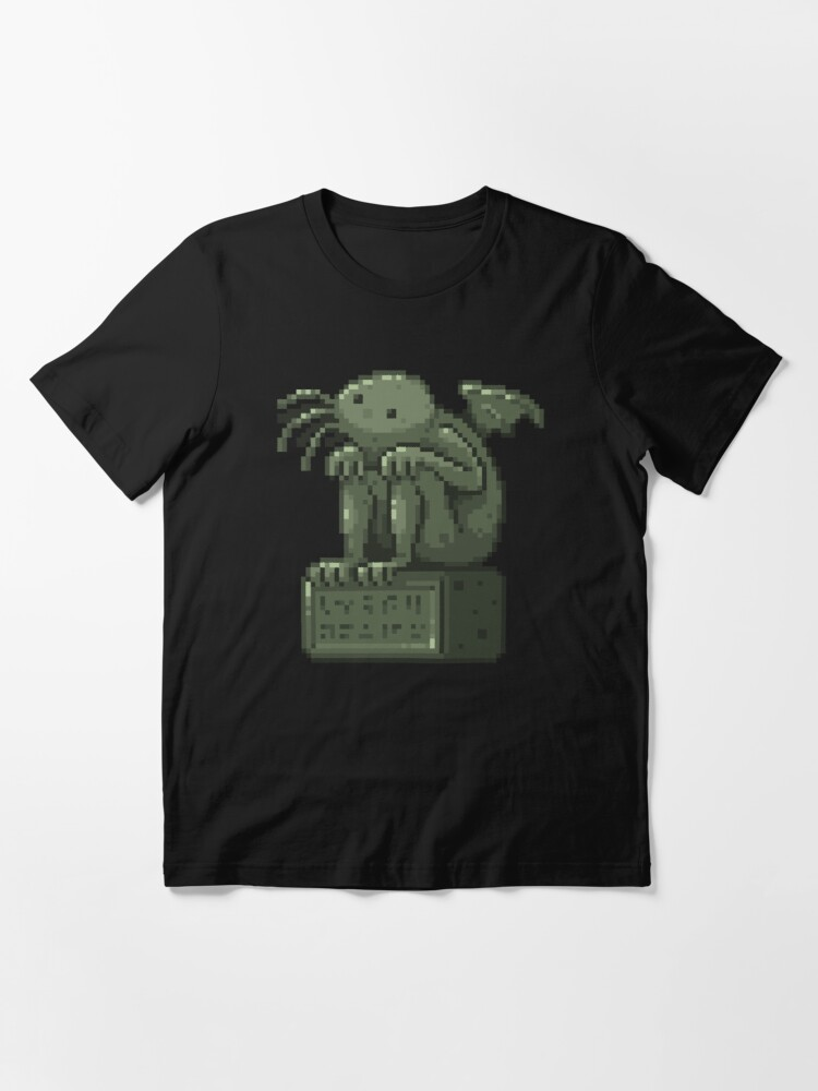 Alternate view of Pixel Cthulhu Essential T-Shirt