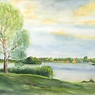 Abendstimmung - Templin See - Uckermark von Jens-Uwe Friedrich