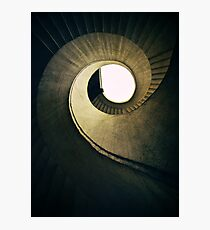 Spiral stairs in warm tones Photographic Print