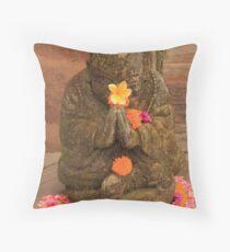 Bali Buddha  Throw Pillow
