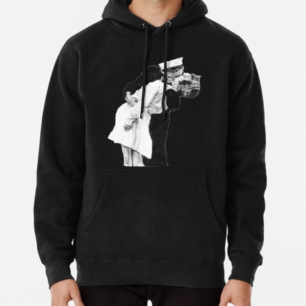 A Sailors Kiss Drawing Pullover Hoodie