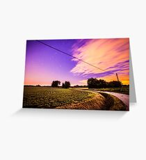 night in the fields Greeting Card