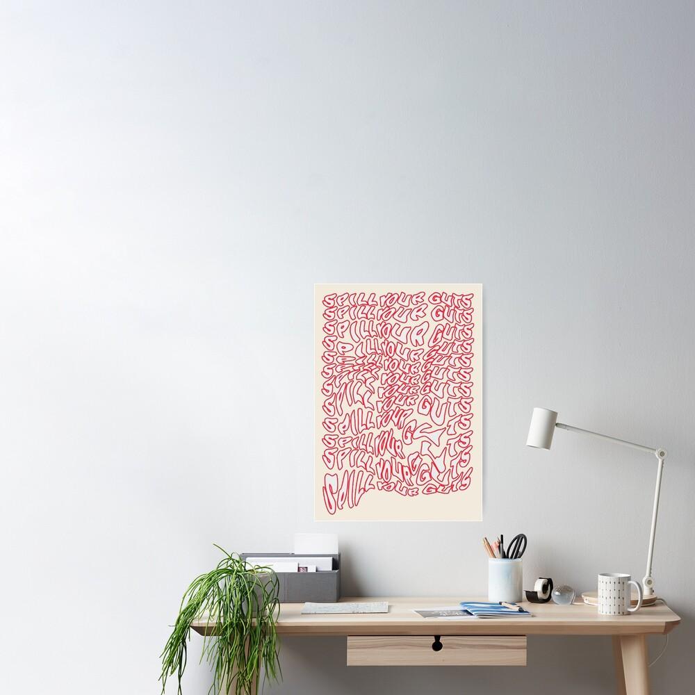 Spill Your Guts Design Poster