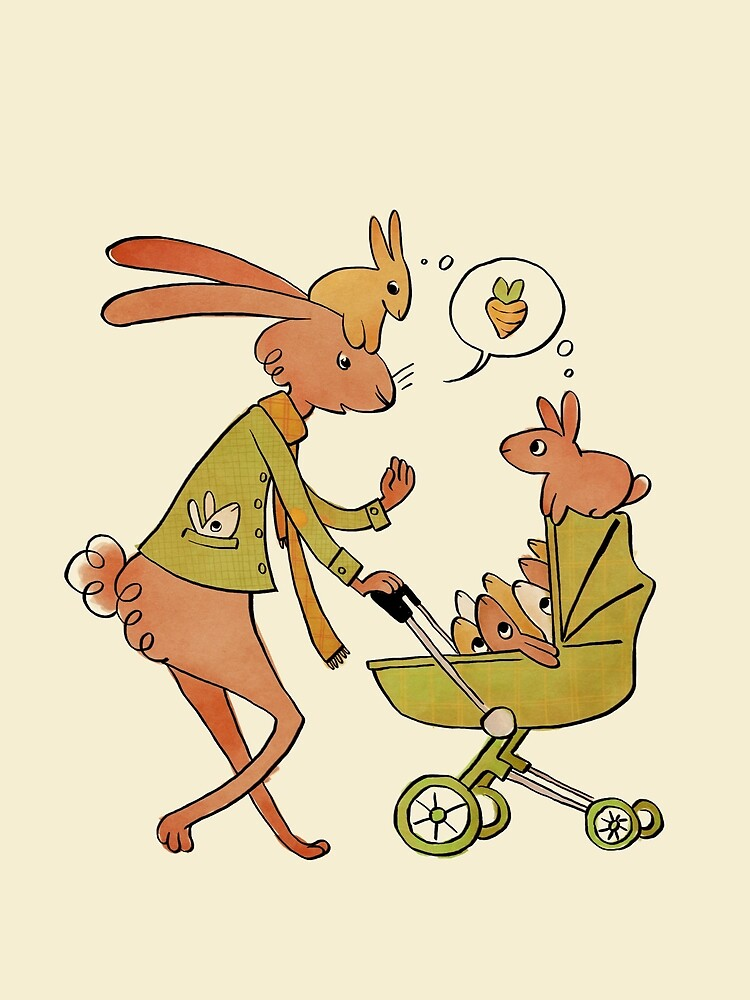 Incorrigibly Fatherly Rabbit by Carrie Wilbraham