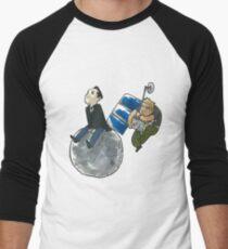 Moon and Satellite MorMor Men's Baseball ¾ T-Shirt