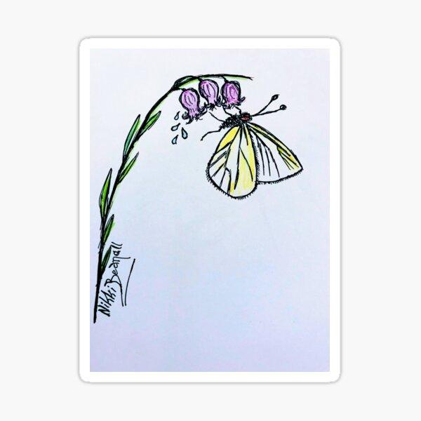 Butterfly Bluebell Sticker