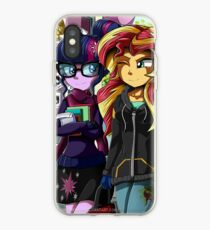 MLP EQG: Twilight and Sunset iPhone Case