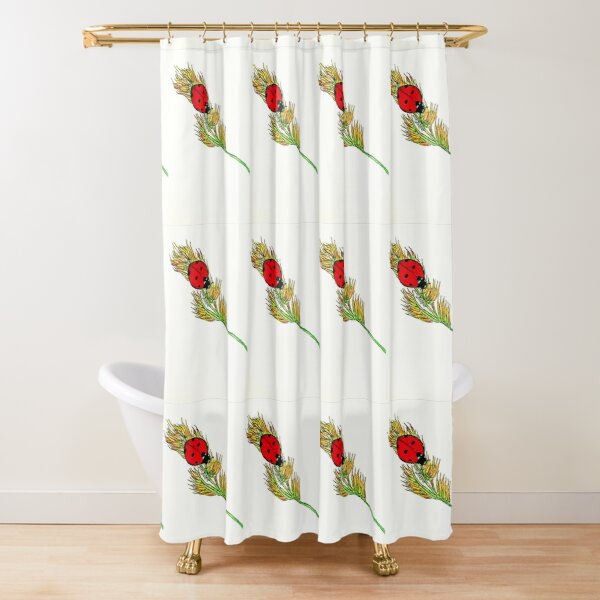 Ladybird Courage Shower Curtain