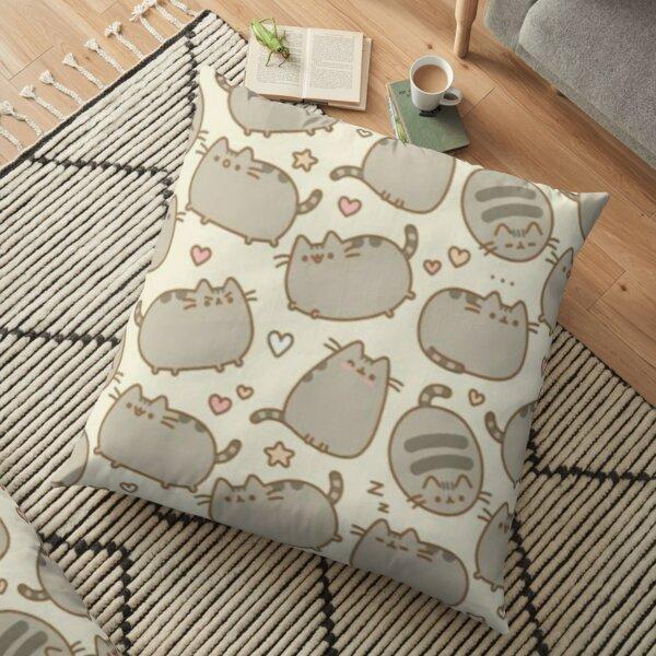 Pusheen Cat Seamless  Pattern Duvet Floor Pillow