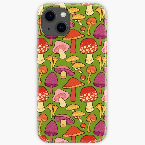 mushrooms from your back yard iPhone Soft Case
