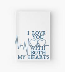 Nerd Valentines: Both my hearts. Hardcover Journal