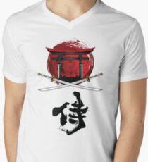 Samurai Katana Tori gate Kanji Men's V-Neck T-Shirt